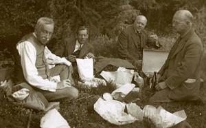 Utflykt 1920 med Rutger Sernander